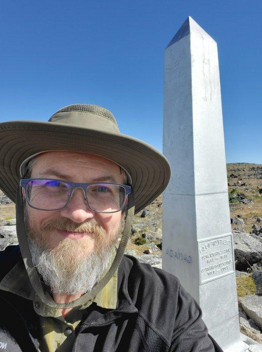 Horseshoe Basin: Brian at Border Monument 104