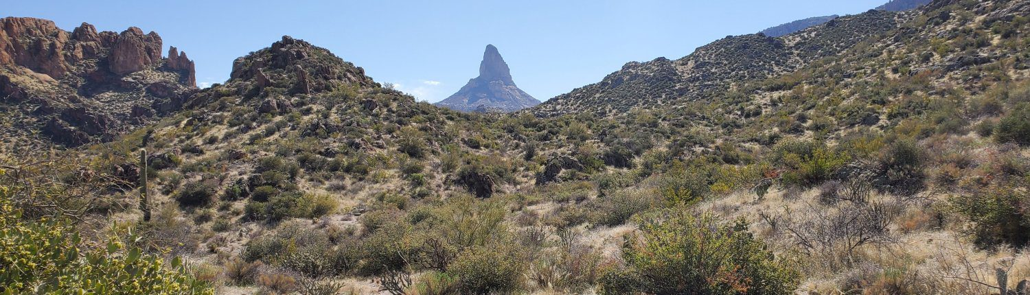 Superstitions: Weaver's Needle from Dutchman Trail