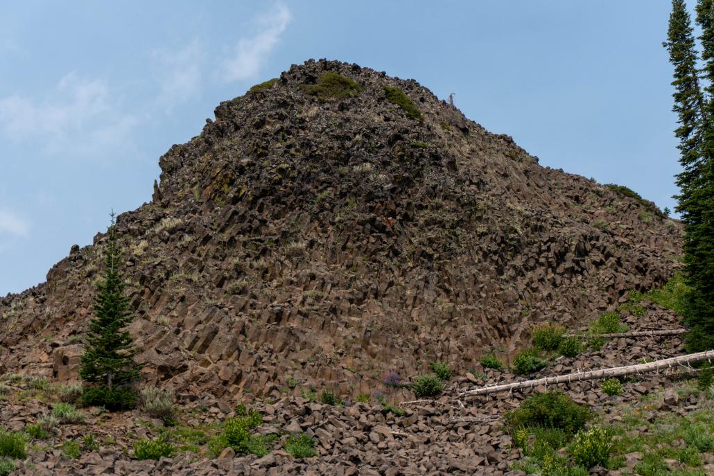 Columnar basalt.